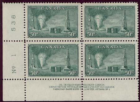 Canada USC #294 Mint Plate 1 LL Cat. $75. UR Stamp Creased  o/w VF-NH
