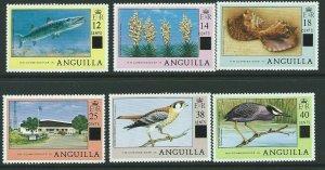 ANGUILLA SG345/50 1979 SURCHAGE SET MNH