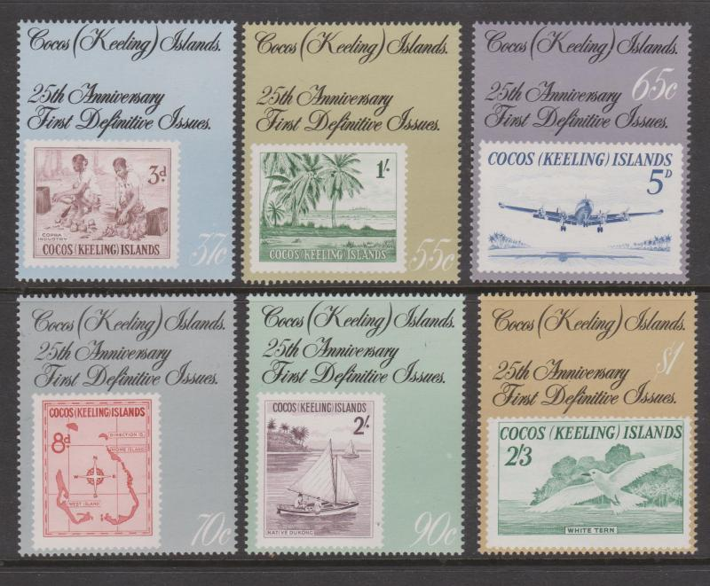 Cocos Keeling Islands Sc#177-182 MNH