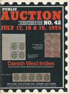 Danish West Indies Postal History & Richard Wollfers, Sale 42, July 17-19, 1975