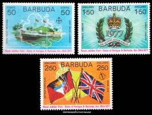 Barbuda MNH 302-4 Royal Visit Silver Jubilee QE II