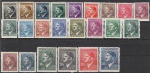 Stamp Germany Bohemia Czechoslovakia Mi 089-110,42 Sc 62-83,90 WWII Hitler MH