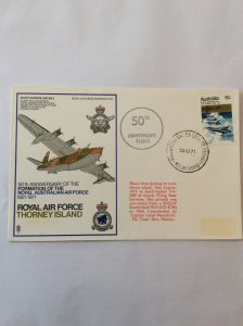 1971 Air Force 6c cover. Postmarked on rear for Lord Howe island.
