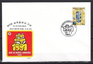 South Korea, Scott cat. 1639, World Scout Jamboree issue. First day cover.