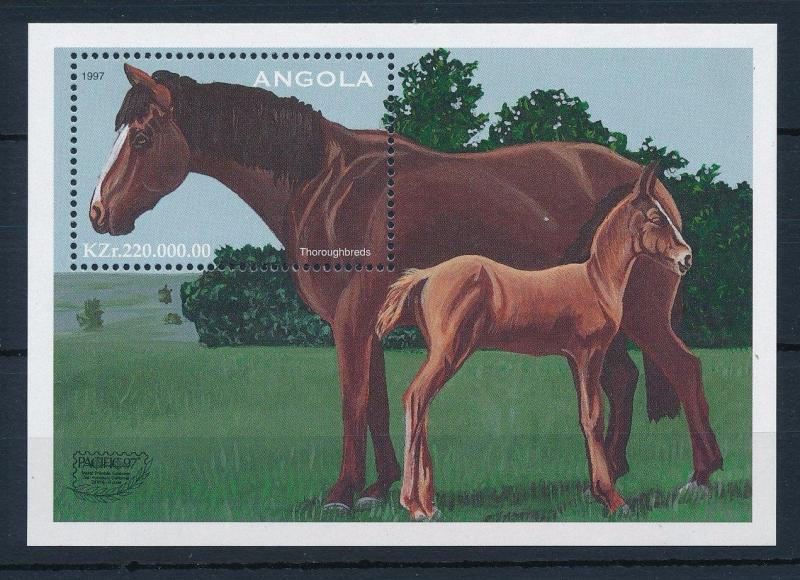 [30871] Angola 1997 Animals Horses MNH Sheet