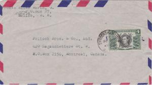 British Honduras 4c KGVI Local Products 1944 Belize, British Honduras Airmail...