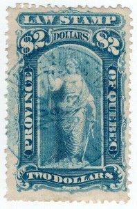 (I.B) Canada Revenue : Quebec Law Stamp $2 (1871)