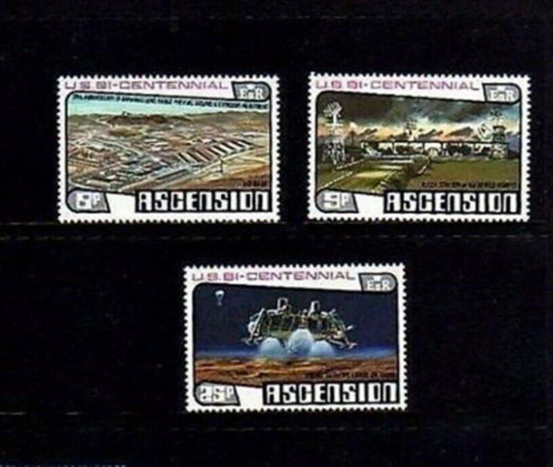 ASCENSION - 1976 - BICENTENNIAL - NASA - VIKING - MINT - MNH - SET!