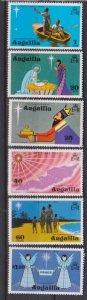 1974 Anguilla Scott 205-210 Christmas MNH