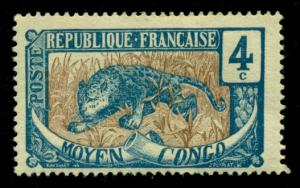 Middle Congo 1907 #3 MH SCV(2018)=$0.70