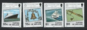 Cayes Of Belize MNH 10-13 Lloyd's List Ships 1984 SCV 3.05