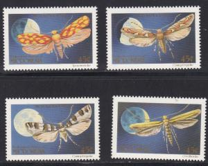 Micronesia # 127-130, Moths, NH, 1/2 Cat.