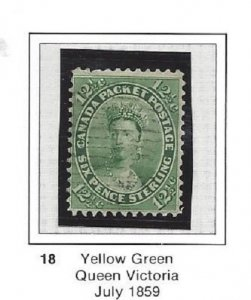 Canada 18 Used Great Looking Stamp CV$150