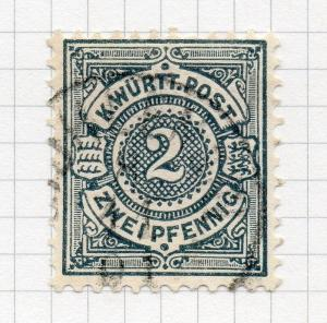 Wurttemberg 1894 Early Issue fine used Shade 2pf. 291191