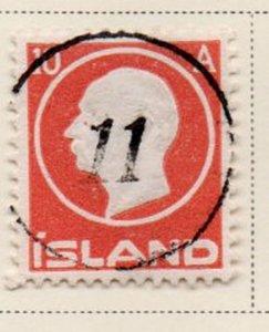 Iceland Sc 93 1912 10 aur Frederik VIII stamp used