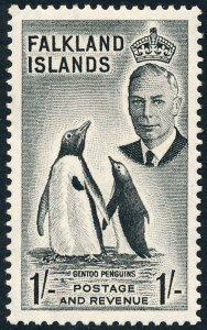 Falkland Islands 1952 1s Black SG180 MH