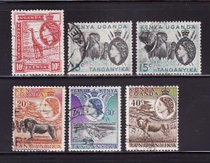 Kenya, Uganda, Tanzania 104-109 U Queen Elizabeth II