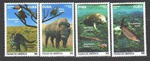 Cuba. 2016. 6078-81. fauna of America. MNH.