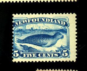 Newfoundland #54 MINT Ave-Fine OG HR Cat $175