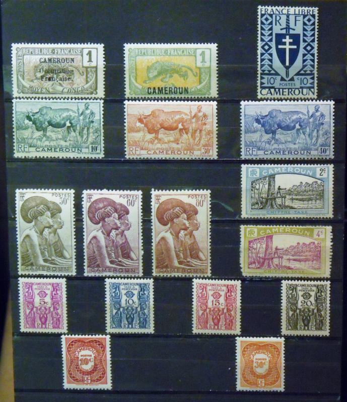 CAMEROON   MH  Scott # 130, 147, 283, 304-9, J1, J2, J14-17, J24, J25   CV$ 7.35