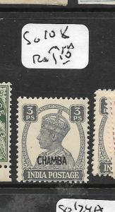 INDIA CHAMBA (P3008B) KGVI 3P SG108  MNH