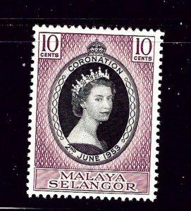 Malaya - Selangor 101 MH 1953 QEII Coronation