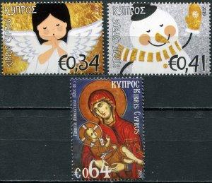 Cyprus 2019. Christmas 2019 (MNH OG) Set of 3 stamps