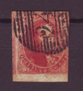 J13718 JLstamps 1849-50 belgium used #5a? wmk96 w/frame, see details $525.00 scv