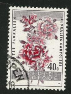 Belgium Scott 540 used  1960 Ghent Flower stamp