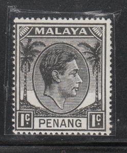 Malaya Penang 1949 Sc 3 KGVI 1c MH