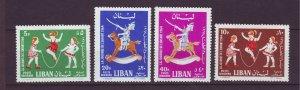 J24045 JLstamps 1964 lebanon set mh #c398-401 children