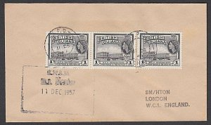 BR GUIANA 1957 ship cover with cachet of MS MENTOR..........................R696