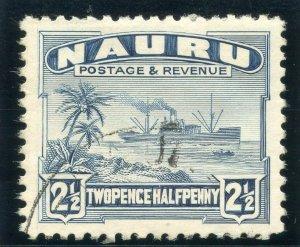Nauru 1924 KGV 2½d slate-blue very fine used. SG 30A.