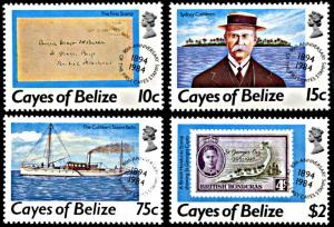 Cayes of Belize 18-21, MNH, 90th Anniversary of Cayes Stamps