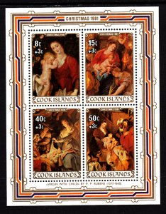 Cook Islands B99 Christmas Souvenir Sheet MNH VF