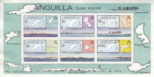 Anguilla, SW359-361, MNG, 1979, Outter Islands, Fault: SEE DESCRIPTION