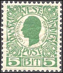 Danish West Indies 31 Mint,OG,HR... SCV $3.75