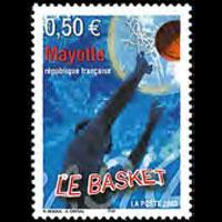 MAYOTTE 2003 - Scott# 192 Basketball Set of 1 NH