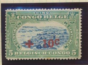 Belgian Congo Stamp Scott #B1, Mint Hinged