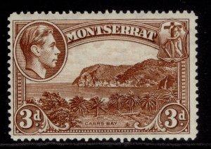 MONTSERRAT GVI SG106ab, 3d deep brown, M MINT.