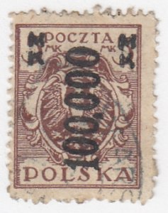 Poland, Sc 200, Used, 1924, Inflation Overprint