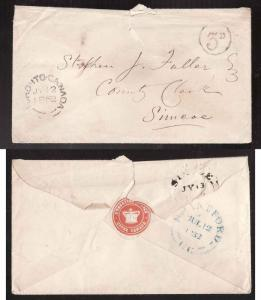 Canada #3198a-Stampless-Toronto Canada double broken circle-Jy 12 1852-B/S