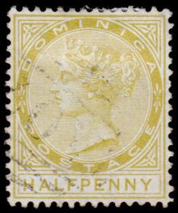 Dominica Scott 4 (1879) Used H F-VF, CV $62.50 M