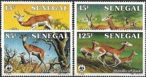 1986 Senegal WWF, Naturschutz, Damagzelle, MiNr. 875-878 ** KAT 9€