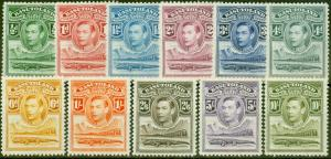 Basutoland 1938 set of 11 SG18-28 V.F Lightly Mtd Mint