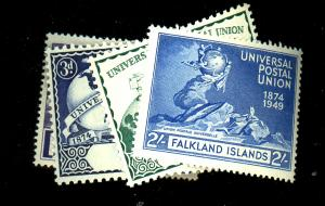 Falkland Island #103-6 MINT F-VF OG NH Cat $16