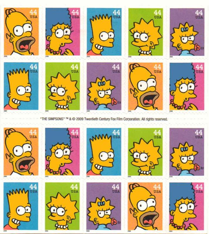 US 4399-03 - 44¢ The Simpsons Unused