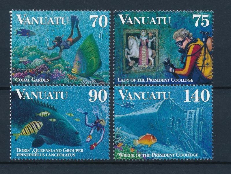 [39538] Vanuatu 1997 Marine Life Fish Diving MNH