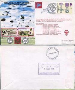 AC54c Formation of AAC and 1st Air Landing Brigade Parachutist Signed (C)