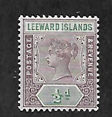LEEWARD ISLANDS 1 MINT HING QUEEN VICTORIA